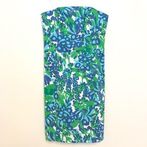 Lilly Pulitzer Dress Bow Open Back Strapless Mini